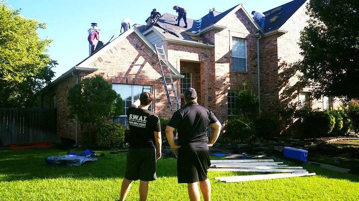 a photo of a roof replacement